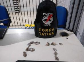 """""""Vendo drogas para sustentar meus filhos"""" diz mulher presa por tráfico no centro de Porto Velho"""