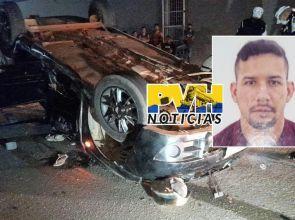 FIM DA LINHA: Passageiro morre após veículo atropelar motoboy e capotar em cruzamento da capital